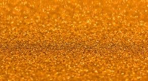 Noël de bokeh d'étincelles de fond de scintillement d'or Image libre de droits