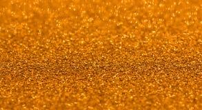 Noël de bokeh d'étincelles de fond de scintillement d'or Photo stock