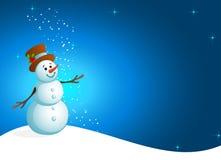 Noël de bonhomme de neige illustration de vecteur