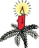 Noël de bougie Photo stock