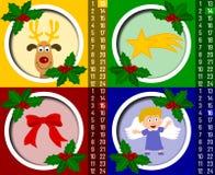 Noël de calendrier de 4 arrivées Photos stock