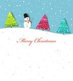 Noël de carte Photo libre de droits