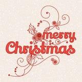 Noël de carte de voeux Joyeux illustration de vecteur