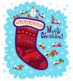 Noël de carte de voeux Joyeux Image stock
