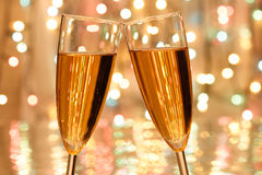 Noël de champagne Image stock