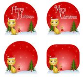 Noël de chat de milieux Image stock
