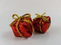 Noël de décoration de Noël d'anniversaire de boîte de cadeaux de GIF Photo libre de droits