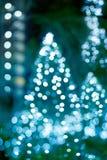 Noël de décoration, doux et concept rougeoyants légers abstraits de tache floue Image libre de droits