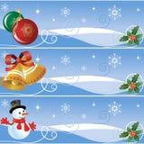 Noël de drapeaux Photos libres de droits