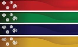 Noël de drapeaux Image libre de droits