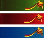 Noël de drapeaux Photographie stock libre de droits