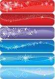 Noël de drapeaux Illustration de Vecteur
