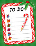 Noël de +EPS pour faire le crayon de canne de liste de contrôle et de sucrerie Photo stock