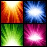 Noël de fête, années neuves d'explosions de la lumière a Photo stock