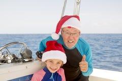 Noël de famille dans les Caraïbe Photographie stock libre de droits