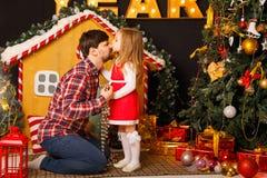 Noël de famille Père et fille Image stock