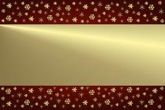 Noël de fond d'or Photographie stock libre de droits