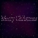 Noël de fond de l'espace Images libres de droits