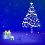 Noël de fond de l'hiver illustration de vecteur