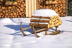 Noël de hutte de l'hiver Photographie stock libre de droits