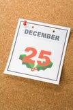 Noël de jour de calendrier Photographie stock libre de droits