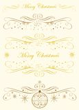 Noël de la calligraphie Monogram.Merry illustration stock