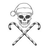 Noël de métaux lourds avec la conception de cannes de sucrerie Photo stock