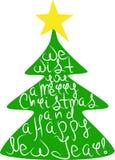 Noël de nouvelle année postal Images stock