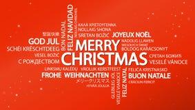 Noël de nuage de Word Joyeux Photo libre de droits