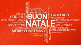 Noël &#x28 de nuage de Word Joyeux ; en italien illustration de vecteur