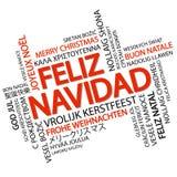 Noël de nuage de Word Joyeux et x28 ; dans Spanish& x29 ; Images libres de droits