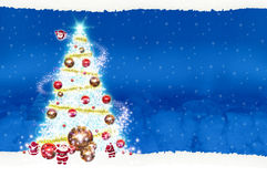 Noël de panneau d'affichage d'affiche sur le fond bleu Image stock