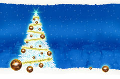 Noël de panneau d'affichage d'affiche sur le fond bleu Image libre de droits