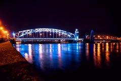 Noël de pont de St Petersburg à St Petersburg Images stock