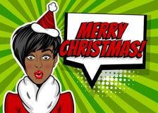 Noël de salutation d'art de bruit de femme illustration libre de droits