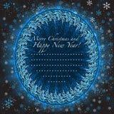Noël de salutation et fond de nouvelle année Image libre de droits