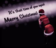 Noël de Santa Girl Lady Background Merry Photos libres de droits