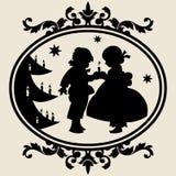 Noël de silhouette Photo libre de droits