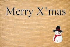 Noël de tissu de caractères de suture Images libres de droits