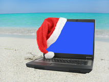 Noël des Caraïbes de plage Photographie stock