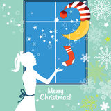Noël des enfants Images libres de droits