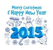 Noël dessiné Images libres de droits