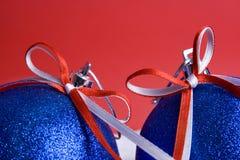 Noël deux de billes Image libre de droits