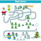Noël drôle Maze Game : Santa Claus Illustration de vecteur de nouvelle année Photos stock