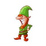 Noël Elf de bande dessinée Photo stock