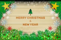 Noël en bois de fond Photos stock