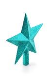 Noël en forme d'étoile éclatant vert et ornement de nouvelle année Photographie stock