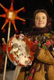 Noël en Ukraine. Cordon rêveur de festival. Photos libres de droits