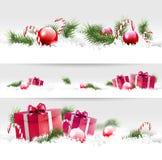 Noël encadre 3 types Image libre de droits