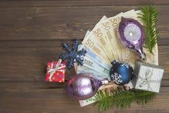 Noël et argent Photo libre de droits